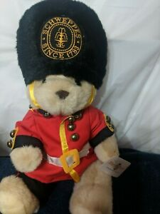Schweppes Vintage Stuffed Guardsman Bear With Tag Rare Mary Meyer