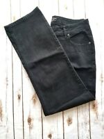 Riders Silver Edition Jeans Black Womens Stretch Size 18W  W 34 X L 33