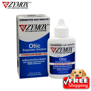 Zy_mox Ear Cleanser For Dogs And Cats 1% Hydrocortisone 1.25 OZ, in BOX