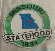 Embroidered Missouri State Pride MO Statehood Souvenir Patch Iron On Sew On USA
