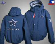 Vtg Dallas Cowboys Hoddie Pedding Full Zip Jacket Starter Men Sz M-XL NWT