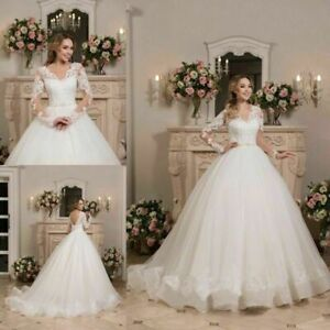 Plus Size White/ivory Wedding dress Bridal Gown custom size 6-8-10-12-14-16 18+