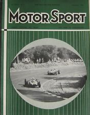 Motor Sport Magazine September 1960 featuring Jaguar 3.8 Mk II road test