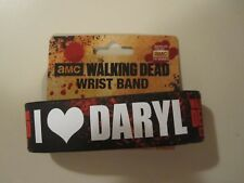 AMC The Walking Dead I Love Daryl Dickson Rubber Bracelet WristBand Zombie
