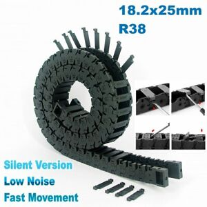 18.2x25mm R38 Nylon Cable Drag Chain Fast Movement Wire Carrier CNC 3D Printer