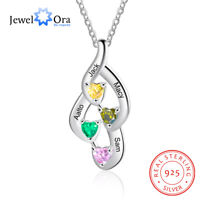 Personalized 925 Sterling Silver Necklace Infinity Birthstone Pendant For Women