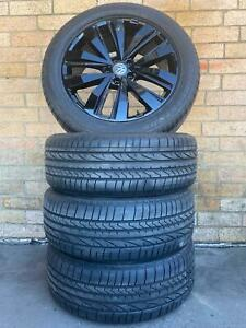 VOLKSWAGEN AMAROK ULTIMATE 20 INCH GENUINE WHEELS AND TYRES NEAR NEW CONDITION S