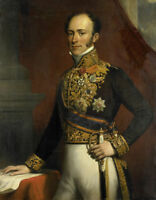 """oil painting on canvas """"General of the Dutch East Indies from 1845 to 1851 """""""