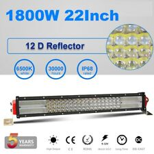 "12D 22""Inch 4 Rows 1800W LED Light Bar Spot Flood Combo Offroad 4WD Boat Lamp"