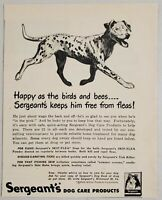 1949 Print Ad Sergeant's Dog Care Products Happy Dalmatian Free from Fleas