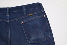 Vintage 1970's Wrangler Mens Denim  Blue Jeans 38X34 ACTUAL MEASURE= 36X28