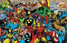 MARVEL RETRO COMIC CHARACTERS POSTER (57x87cm)  PICTURE PRINT NEW ART