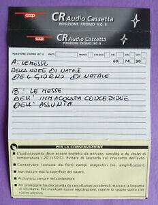 CUSTODIA INLAY MC Musicassetta COOP CR Chrome Compact Cassette Vintage USATA