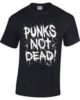 Punks Not Dead T-Shirt Mens Womens Punk