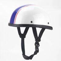 Motorcycle Half Helmet Unisex Adult Lightweight Skull Cap for Scooter Chopper