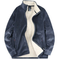 Herren Oversize Warme Jacke Casual Hoodie Fleece Mantel Sherpa Sweatshirt