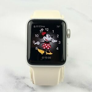 Apple Watch Series 2 38mm Silver Aluminum Case White Sports Band GPS