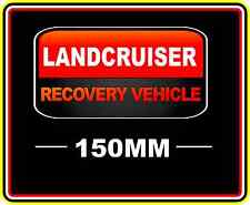 LANDCRUISER RECOVERY VEHICLE STICKER DECAL 4WD OFF ROAD TRUCK FUNNY BUMPER RED