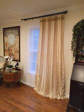 "Beautiful handmade 100% pure silk cascading curtain (93"" long, 52"" wide)"