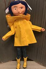 "Coraline Yellow Raincoat Boots 7"" Bendy Doll Action Figure NECA"