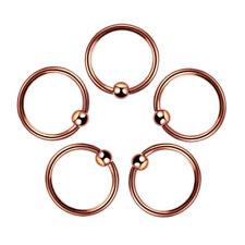 Helix Tragus Cartilage Earring Navel 10mm Rose G Stainless Steel Nose Ring Women