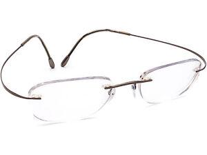 Silhouette Eyeglasses 7799 40 6102 Titan Brown Rimless Frame Austria 48[]19 140