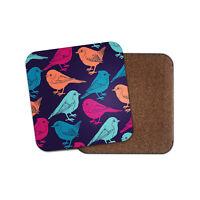 Pretty Birds Drinks Coaster - Robin Twitcher Sweet Colourful Cool Fun Gift #8611
