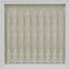 """KEW GARDENS THICK CREAM LACE JAQUARD  NET CURTAIN 45""""48""""54"""" DROPS BY THE METRE"""