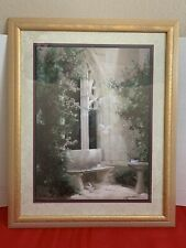 Home Interiors - Dove's Courtyard Framed Picture (wall decor) Birkenstock