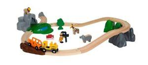 BRIO Safari Adventure Set - Toy Wooden Train Set 33960