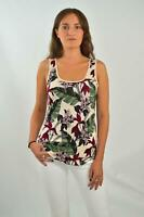 OASIS Womens Leaf Print Floral Summer Vest Top RRP £16