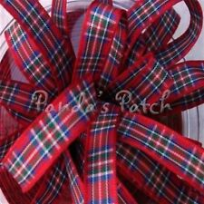 Pride of Wales Tartan Ribbon 10mm 15mm 25mm widths