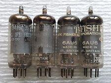 4 Fisher Mullard 6AU6 Vacuum Tubes : Strong!!!