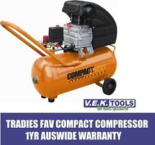 PEERLESS TOOLS COMPACT 2500 2.5HP 30LTR DIRECT DRIVE AIR JOB SITE COMPRESSOR- SP