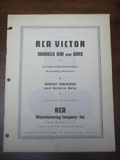 Vtg RCA Victor Service Manual for the 6M 6M2 Auto Receiver/Radio~1936~Original