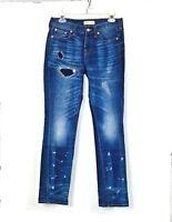 Madewell Distressed jeans Size 25 skinny destroyed denim womens slim fit dark