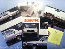 QUATTROR981-RITAGLIO/CLIPPING/NEWS-1981- FIAT ARGENTA -4 fogli