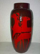 Vase Scheurich HORSES PFERDE CHEVAUX 38 cm Fat Lava 553-38 TOP DESIGN Volcano **