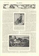1906 1 Hp Cycle Tracto Cyclette Long-distance Runner Sculpted Faces
