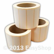 More details for 76mm x 25mm white thermal direct zebra printer labels 1000 per roll 25mm core
