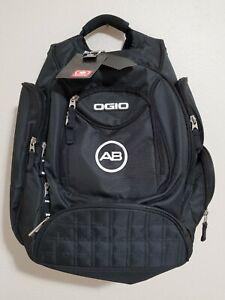 NWT Ogio Metro Streetpacks - Laptop Backpack - Black with White AB Monogram NEW