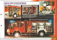 Fire engine Truck FPT TLF-AT Falcon RLF-A 2000 Fix-Mix FICHE Pompier FIREFIGHTER
