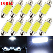 10Pcs DC 12V Festoon LED 41mm C5W Dome Car COB Roof Map Lamp Reading Light Bulbs