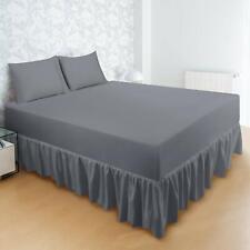 "Bed Skirt Ruffle Brushed Microfiber 16"" Drop Utopia Bedding"