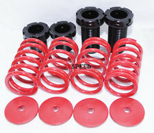 95-99 Mitsubishi Eclipse Eagle Talon Laser Coilover sleeve Kit springs DSM RED