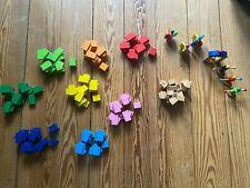 Bunte Dominosteine, Holzklötze, 238stk + 7 Extras, Bauklötze, Kinder