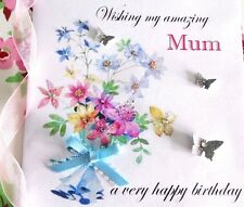 personalised handmade birthday card Mum friend grandma daughter sister Etc