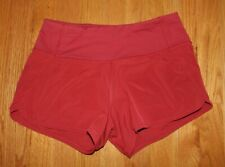 "lululemon red speed up shorts womens 4"" size 4"