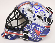 Mike Richter SIGNED AUTOGRAPHED NY Rangers Mini Goalie Helmet Mask with COA
