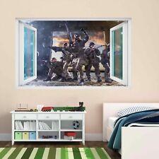 Francotirador Soldado Ejército Militar Guerra 3D Pared Adhesivo Mural Calcomanía Cuarto de Niños Chicos CP62